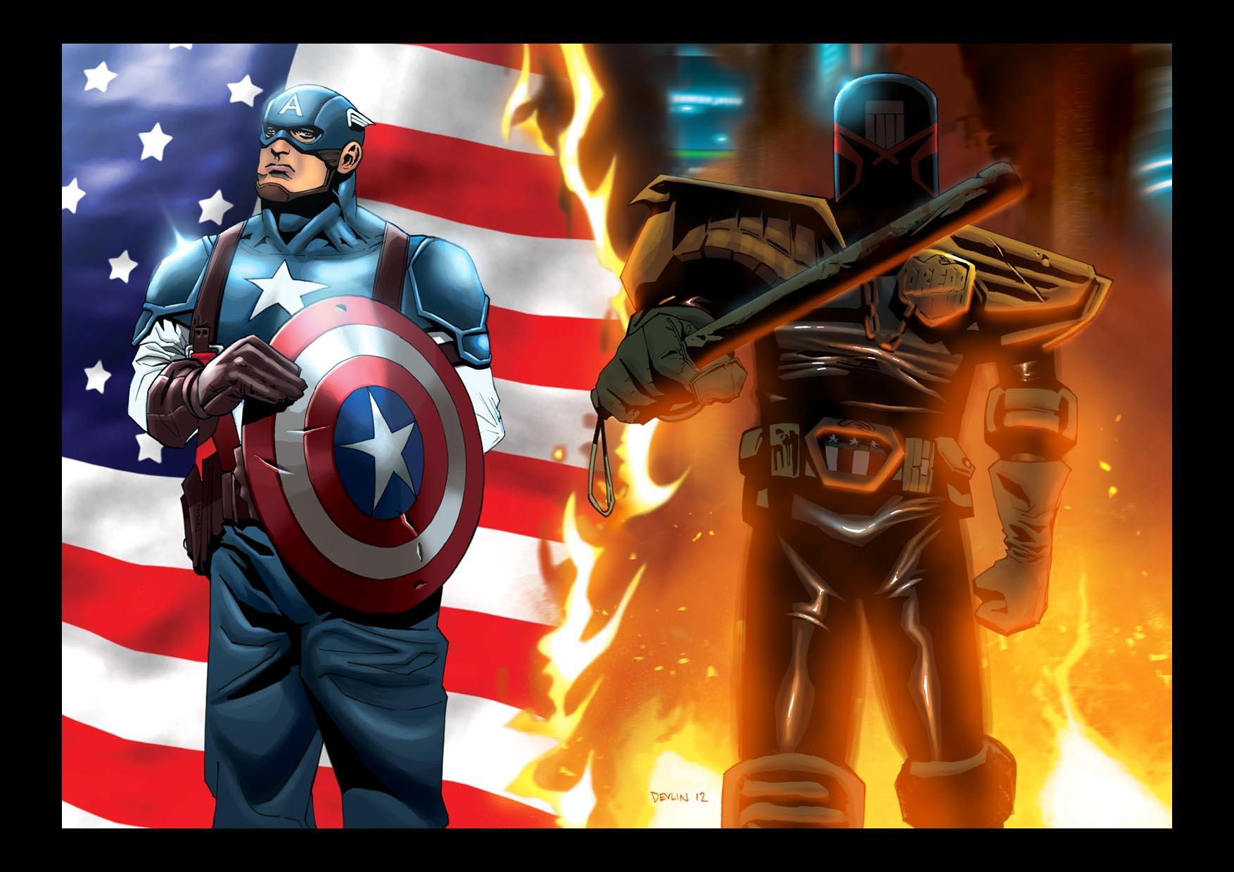 cap and dredd - american dream american nightmare